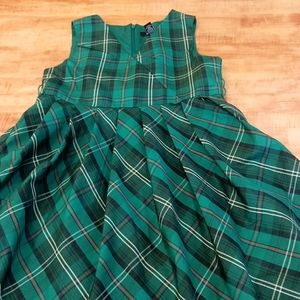 Green Plaid Holiday Party Christmas Dress